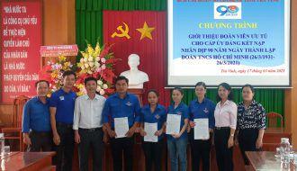 90 Đoàn viên ưu tú khối các cơ quan và doanh nghiệp tỉnh Trà Vinh được giới thiệu cho Đảng xem xét kết nạp trong tháng thanh niên 2021