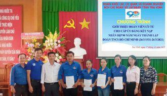 Chi đoàn Sở Lao động – Thương binh và Xã hội tỉnh Trà Vinh  tổ chức Lễ Trao danh sách đoàn viên ưu tú cho cấp ủy năm 2021