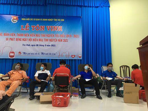 Chi đoàn Viện kiểm sát nhân dân tỉnh Trà Vinh tích cực tham gia  phong trào hiến máu nhân đạo năm 2021
