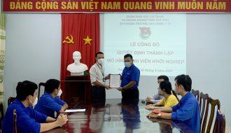 Đoàn trường Cao đẳng Y tế Trà Vinh tổ chức lễ công bố thành lập mô hình sinh viên khởi nghiệp