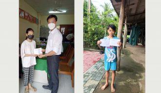 Đoàn khối thăm, tặng quà cho 3 em thiếu nhi có hoàn cảnh khó khăn Tại xã Hiếu Trung huyện Tiểu Cần